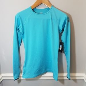 NWT Blue Nike Pro Long Sleeve Athletic Top